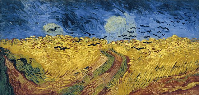 'Wheatfield with crows' by Vincent Van Gogh, 1890.  (Image; wikimedia commons)