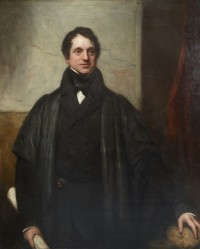 A: Adam Sedgwick aged 47. Portrait by Thomas Philips (Image: Sedgwick Museum of Earth Sciences, University of Cambridge)