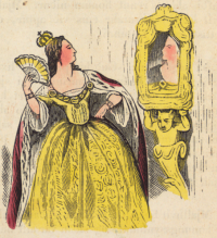 An illustration from page 30 of Mjallhvít (Snow White), an 1852 Icelandic translation of the Grimm version of this fairytale (Image: Wikimedia Commons)