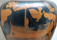 Odysseus and the Sirens; detail from an Attic red-figured stamnos, ca. 480-470 BC from Vulci. (Image: Wikimedia Commons)  We produce many types of sign.   The story of Odysseus and the sirens crafts the word 'siren' into a metaphor; a culturally coded symbol.  For the seafaring nation of ancient Greece, sirens symbolise the 'inner voices' familiar to sailors alone on the ocean.  The story speaks of how prolonged isolation at sea can trick the mind, tempting a man to destroy himself.