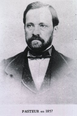 Louis Pasteur in 1857 (Image from the US National Library of Medicine via Wikimedia Commons)