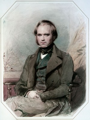 Watercolour of Charles Darwin painted by George Richmond after Darwin's return from the voyage of HMS Beagle (Image via Wikimedia Commons)
