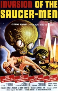 Film poster of the 1957 sci-fi comedy 'Invasion of the Saucer-Men' (Image: Wikimedia Commons)