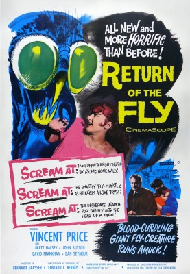 Original poster for the 1959 science-fiction film Return of The Fly (Image: Wikimedia Commons)