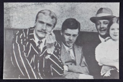 J.B.S Haldane (left) photographed with Aldous Huxley, and Lewis Giegelgud, at Oxford in 1914 (Image: The Wellcome Library, and London / Cold Spring Laboratory Library and Archives)