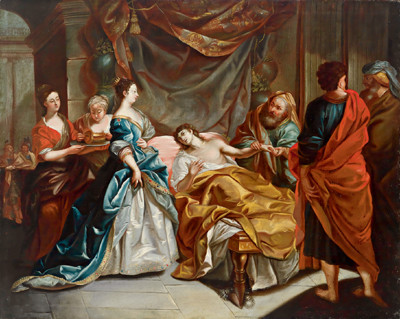 Der Liebeskranke Antiochus by Johann Anwander (1715-1770), portraying the lovesick king Antiochus; ruler of the Seleucid empire (now modern Syria) from 281-261 BC.  In his novel Love in the time of Cholera author Gabriel Garcia Marquez explores the notion that lovesickness is literally an illness whose effects on the body are comparable to those of cholera.  The word 'choleric' in English means depressed, irritable and angry, and in Marquez' native Spanish, cólera can also denote passion, rage and ire.  The metaphor illustrates the power our emotions have to affect our physical body and mental processes (Image: Wikimedia Commons)