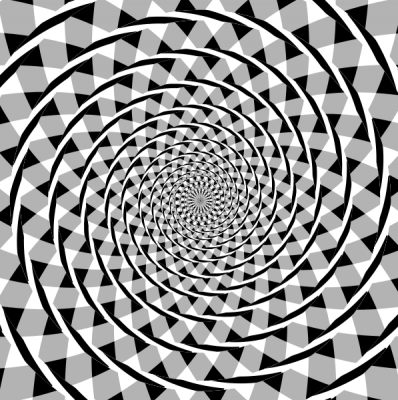 This 'Fraser Spiral' is an optical illusion showing us how our visual circuits process patterns to emphasise rhythm and movement.  The picture is actually made not of spirals, but of concentric circles over a patterned background.  Try tracing the coiled ropes with your fingers! (Image: Wikimedia Commons)
