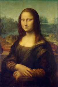 The Mona Lisa by Leonardo da Vinci is thought to be the portrait of the young wife of a Florentine merchant.  It is possibly the most revered piece of renaissance artwork, renowned for the artist's experimental use of glazes (the 'sfumato' technique), and for the way the composition 'tricks' the viewer (Image: Wikimedia Commons)