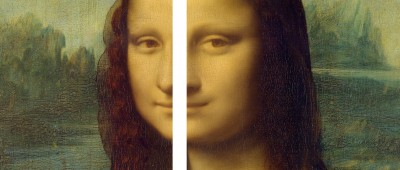 Mona Lisa: detail, showing the different perspectives behind the figure (Image: Constructed from Wikimedia Commons)