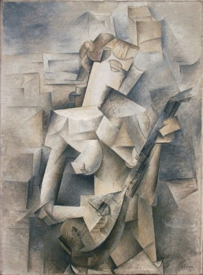 The painting Girl with Mandolin (Pablo Picasso; 1910, Museum of Modern Art, New York) explores the nature of our conscious perceptions of an object in space and time. Picasso and some other cubists sought to represent the 'flux' of our experiences through successive moments, as described by Henry Bergson in his 'Introduction to Metaphysics' (1903) (Image: Wikimedia Commons)