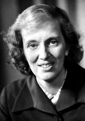 "Dorothy Crowfoot Hodgkin was awarded the Nobel Prize in Chemistry 1964 ""for her determinations by X-ray techniques of the structures of important biochemical substances"" (Image: Copyright © The Nobel Foundation/Wikimedia Commons)"